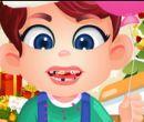 Sevimli Bebeğe Diş Tedavisi