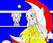 Ay Yıldızlı Kız Boyama