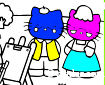 Kedi Ailesi Boyama