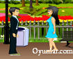 Parkta Romantik Öpücük
